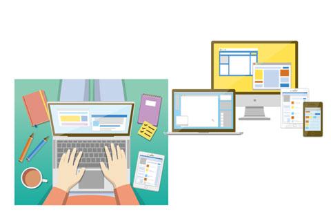 パソコンの画面とスマホの画面