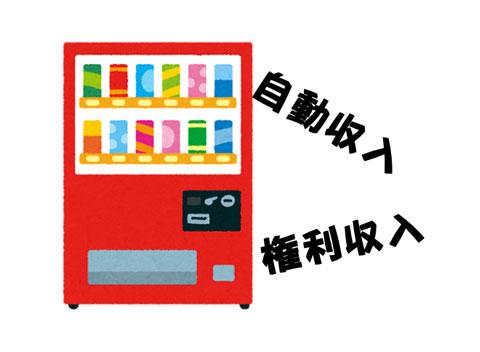 自動収入が入る自動販売機