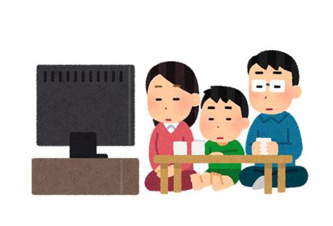 テレビを観ている人