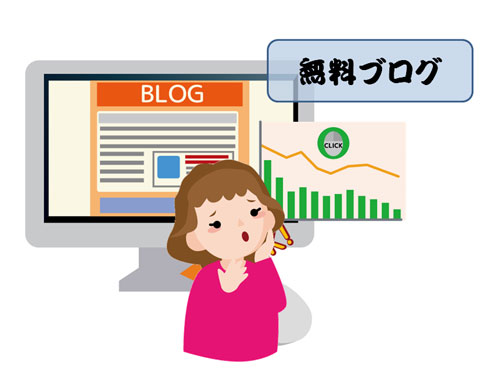アクセスが減っている無料ブログ